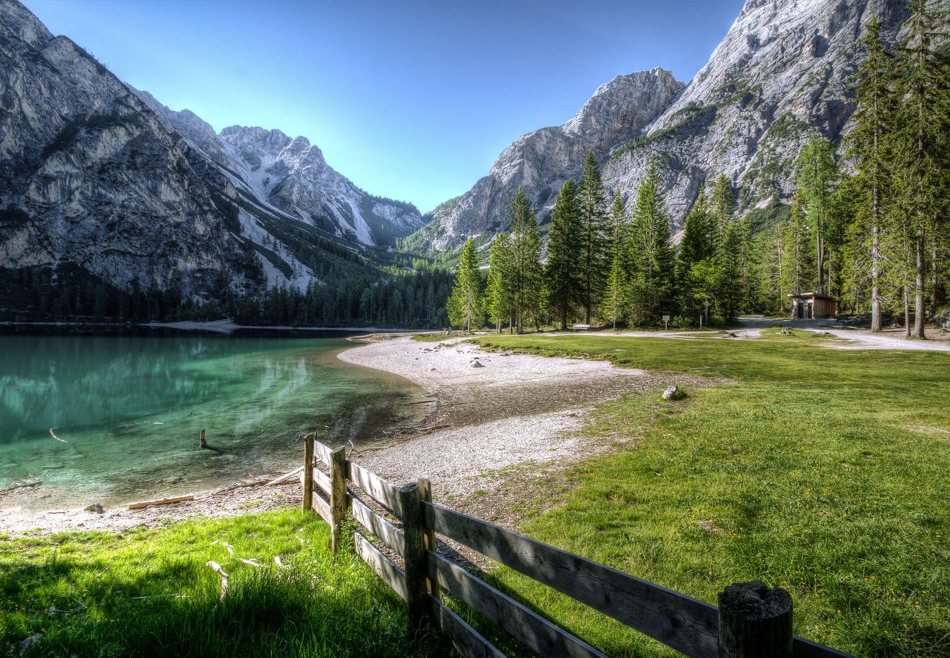 grass hd wallpaper lake landscape