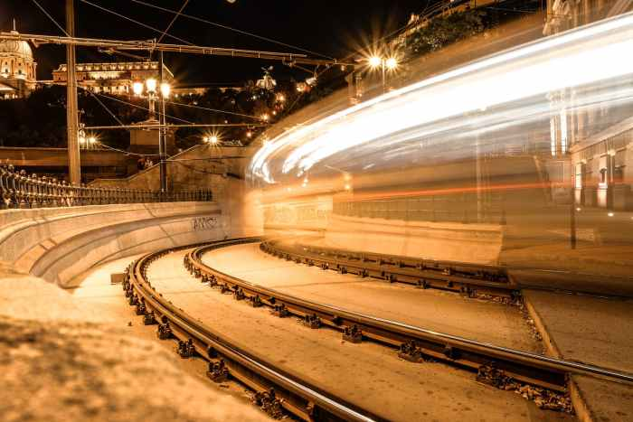 time lapse photography of train
