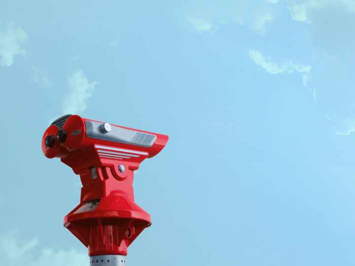 binocular blue sky daylight discovery